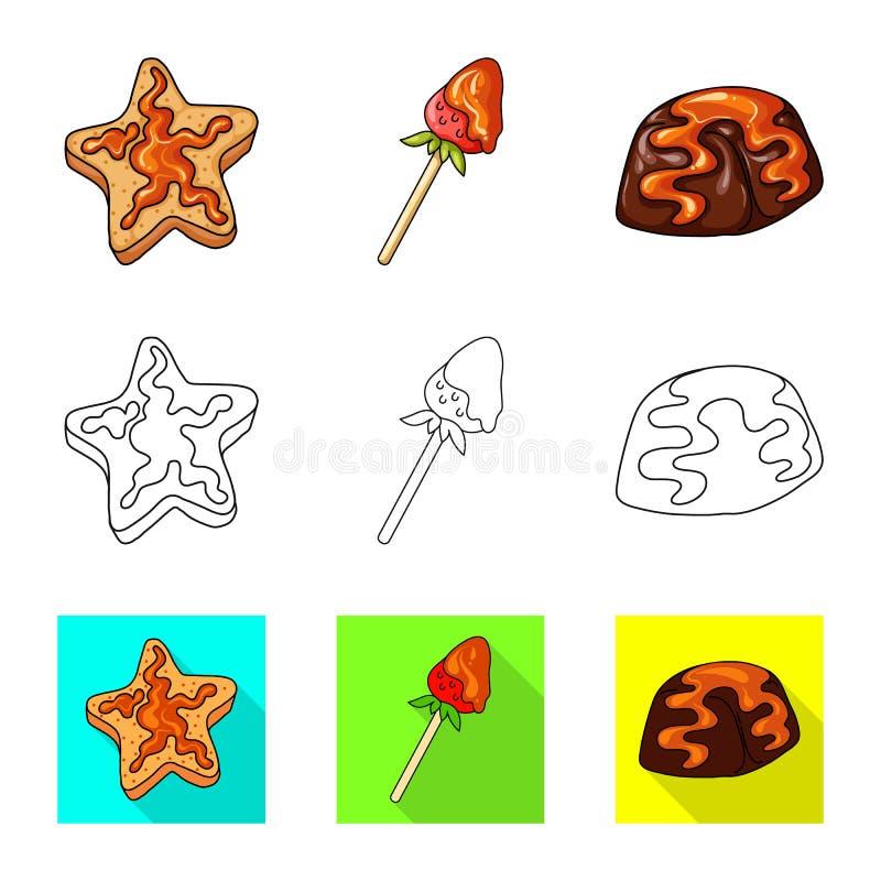 Ge?soleerd voorwerp van banketbakkerij en culinair symbool Inzameling van banketbakkerij en product vectorpictogram voor voorraad stock illustratie