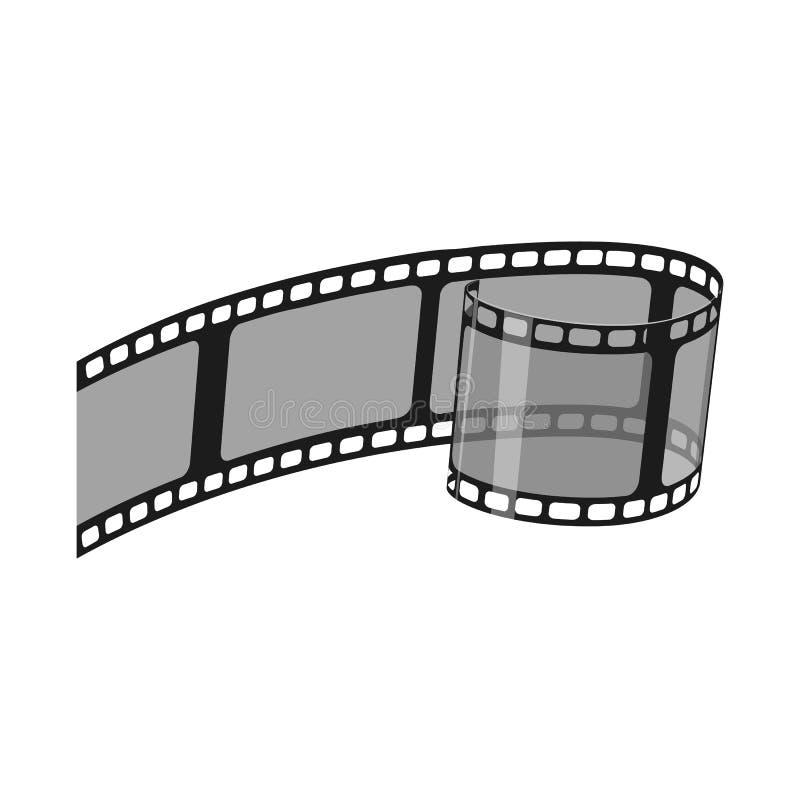 Ge?soleerd voorwerp van cinematografie en studioembleem Reeks van cinematografie en film vectorpictogram voor voorraad stock illustratie