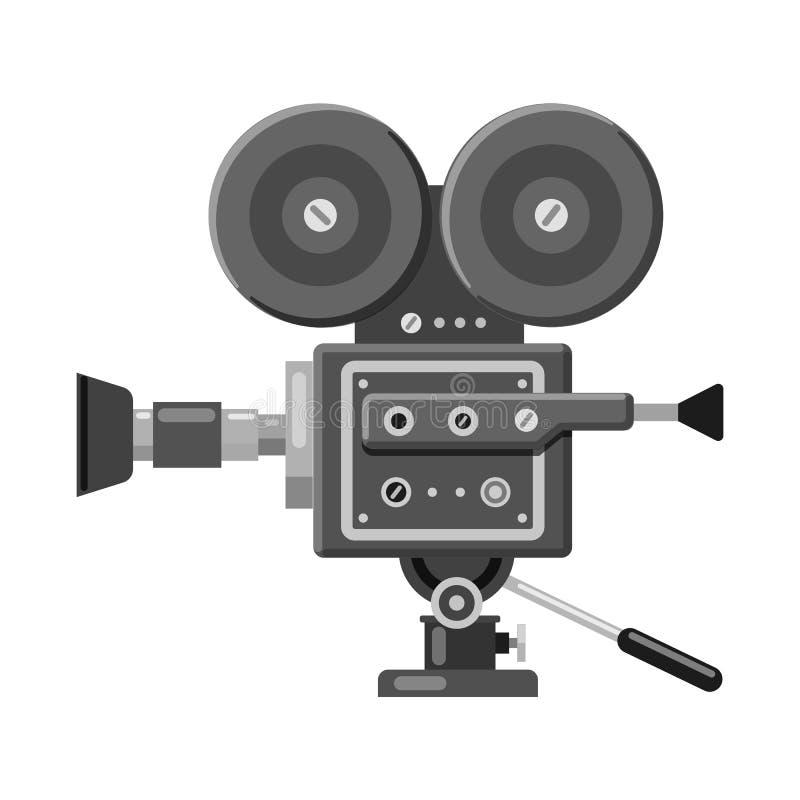Ge?soleerd voorwerp van cinematografie en studioembleem Reeks van cinematografie en filmvoorraadsymbool voor Web royalty-vrije illustratie