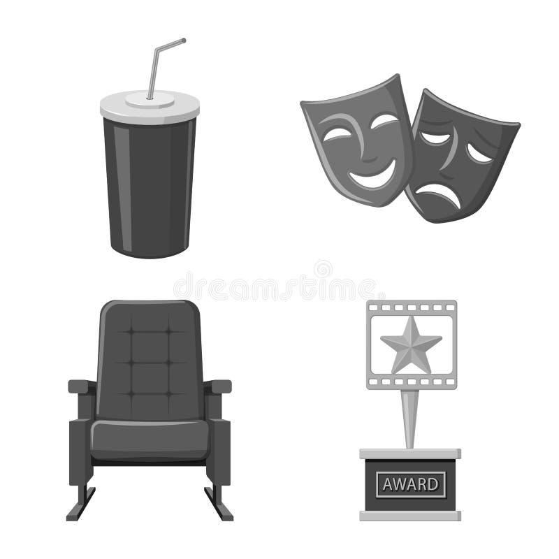 Ge?soleerd voorwerp van cinematografie en studiosymbool Inzameling van cinematografie en film vectorpictogram voor voorraad royalty-vrije illustratie