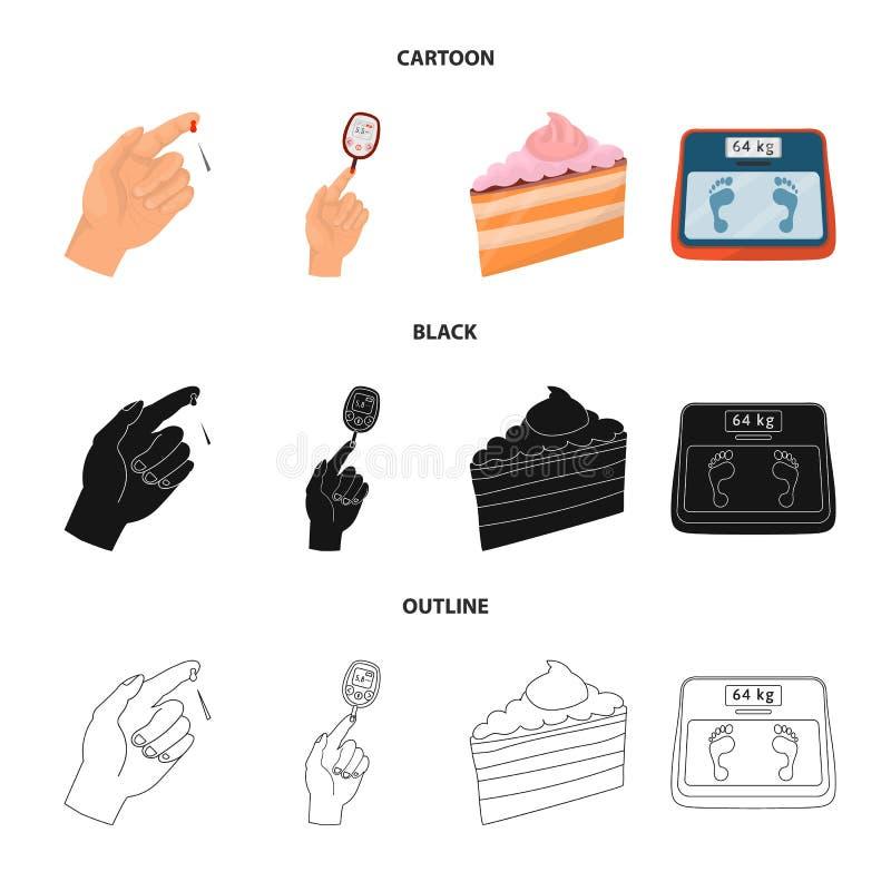 Ge?soleerd voorwerp van dieet en behandelingspictogram Inzameling van dieet en geneeskunde vectorpictogram voor voorraad vector illustratie