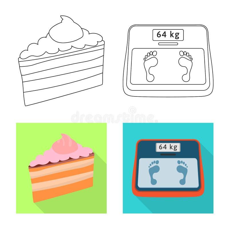Ge?soleerd voorwerp van dieet en behandelingssymbool Inzameling van dieet en geneeskunde vectorpictogram voor voorraad royalty-vrije illustratie