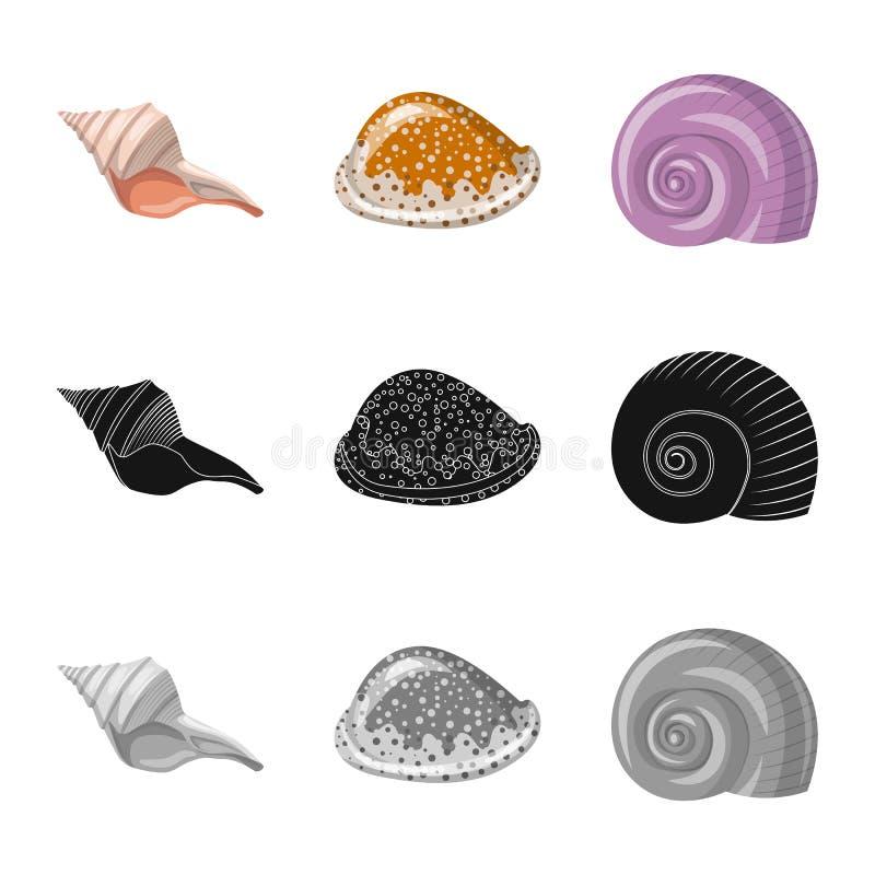 Ge?soleerd voorwerp van dier en decoratieembleem Inzameling van dierlijk en oceaan vectorpictogram voor voorraad royalty-vrije illustratie