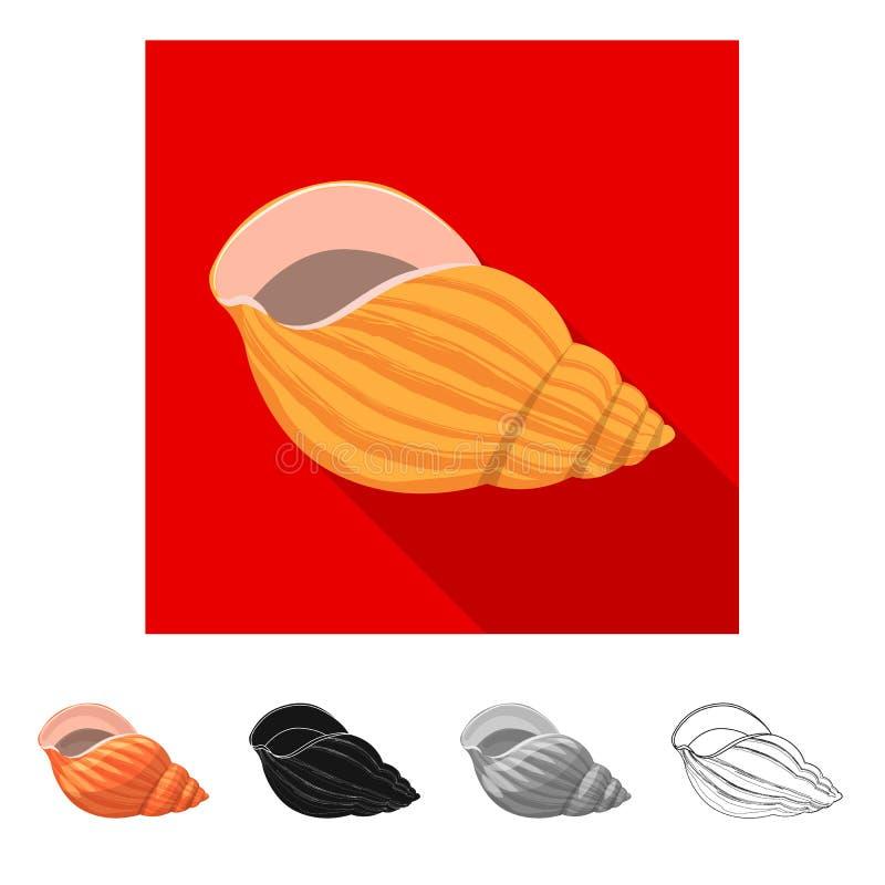 Ge?soleerd voorwerp van dier en decoratieembleem Inzameling van dierlijk en oceaanvoorraadsymbool voor Web royalty-vrije illustratie