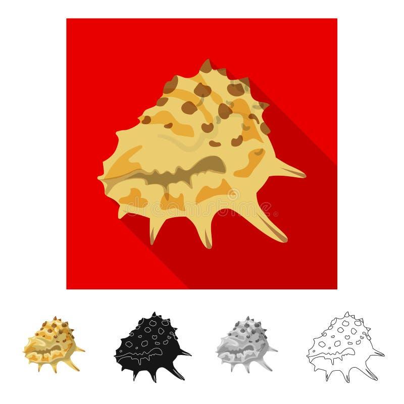 Ge?soleerd voorwerp van dier en decoratieembleem Reeks van dierlijk en oceaan vectorpictogram voor voorraad royalty-vrije illustratie