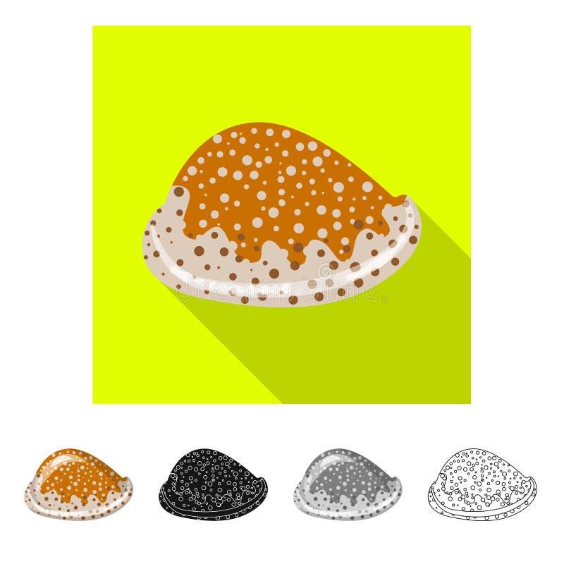 Ge?soleerd voorwerp van dier en decoratieembleem Reeks van dierlijk en oceaanvoorraadsymbool voor Web vector illustratie