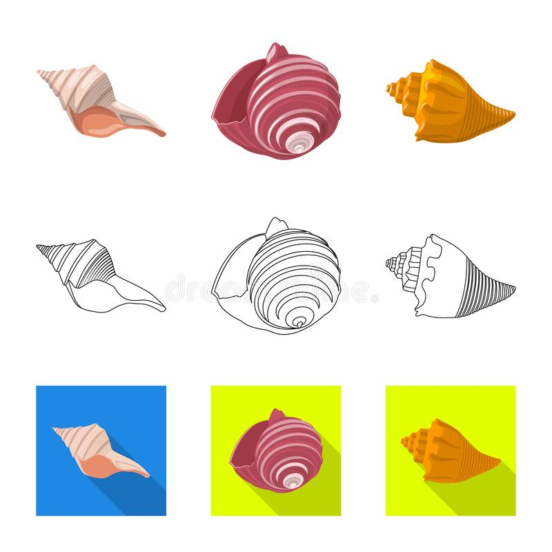 Ge?soleerd voorwerp van dier en decoratiepictogram Inzameling van dierlijk en oceaan vectorpictogram voor voorraad royalty-vrije illustratie