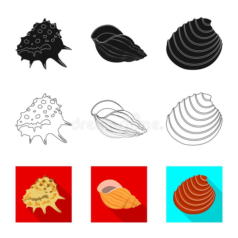 Ge?soleerd voorwerp van dier en decoratiepictogram Reeks van dierlijk en oceaan vectorpictogram voor voorraad stock illustratie