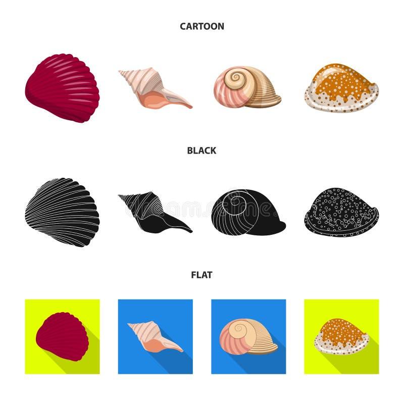 Ge?soleerd voorwerp van dier en decoratiepictogram Reeks van dierlijke en oceaanvoorraad vectorillustratie vector illustratie