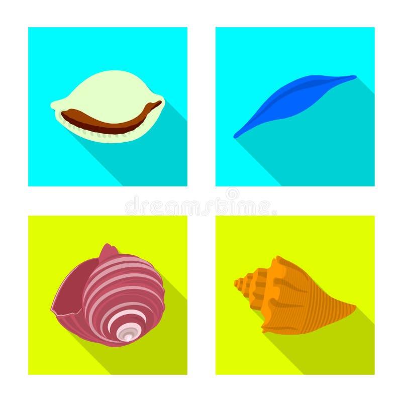 Ge?soleerd voorwerp van dier en decoratiesymbool Inzameling van dierlijk en oceaan vectorpictogram voor voorraad vector illustratie