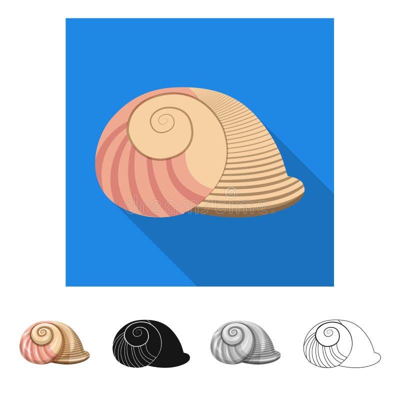 Ge?soleerd voorwerp van dier en decoratiesymbool Inzameling van dierlijk en oceaanvoorraadsymbool voor Web royalty-vrije illustratie