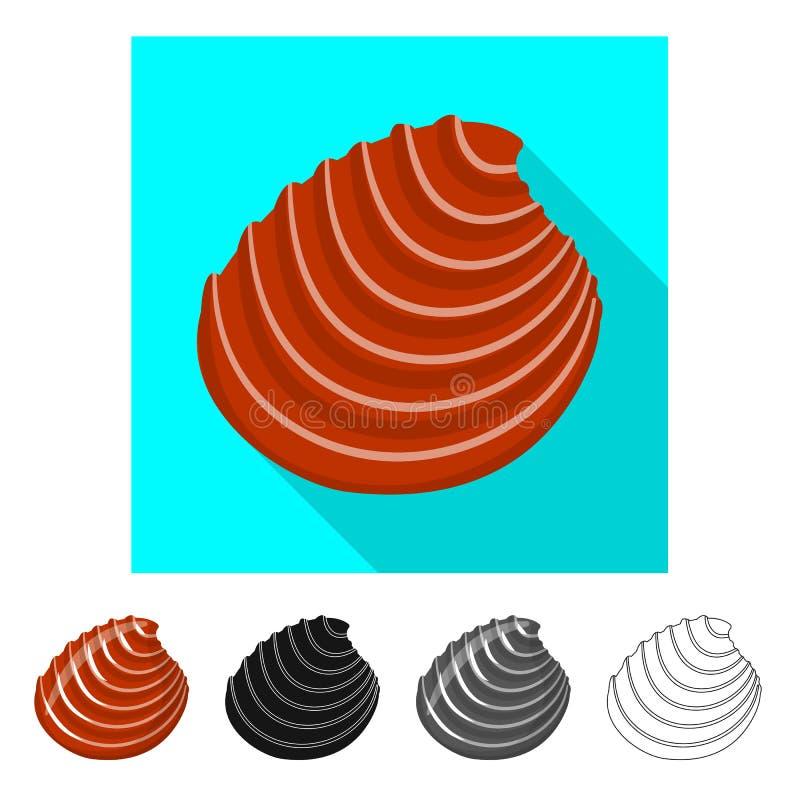 Ge?soleerd voorwerp van dier en decoratiesymbool Inzameling van dierlijk en oceaanvoorraadsymbool voor Web stock illustratie