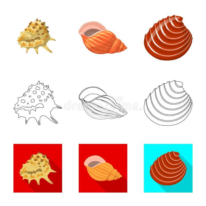 Ge?soleerd voorwerp van dier en decoratieteken Reeks van dierlijk en oceaan vectorpictogram voor voorraad vector illustratie