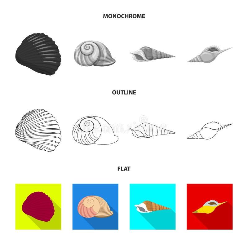 Ge?soleerd voorwerp van dier en decoratieteken Reeks van dierlijk en oceaanvoorraadsymbool voor Web royalty-vrije illustratie
