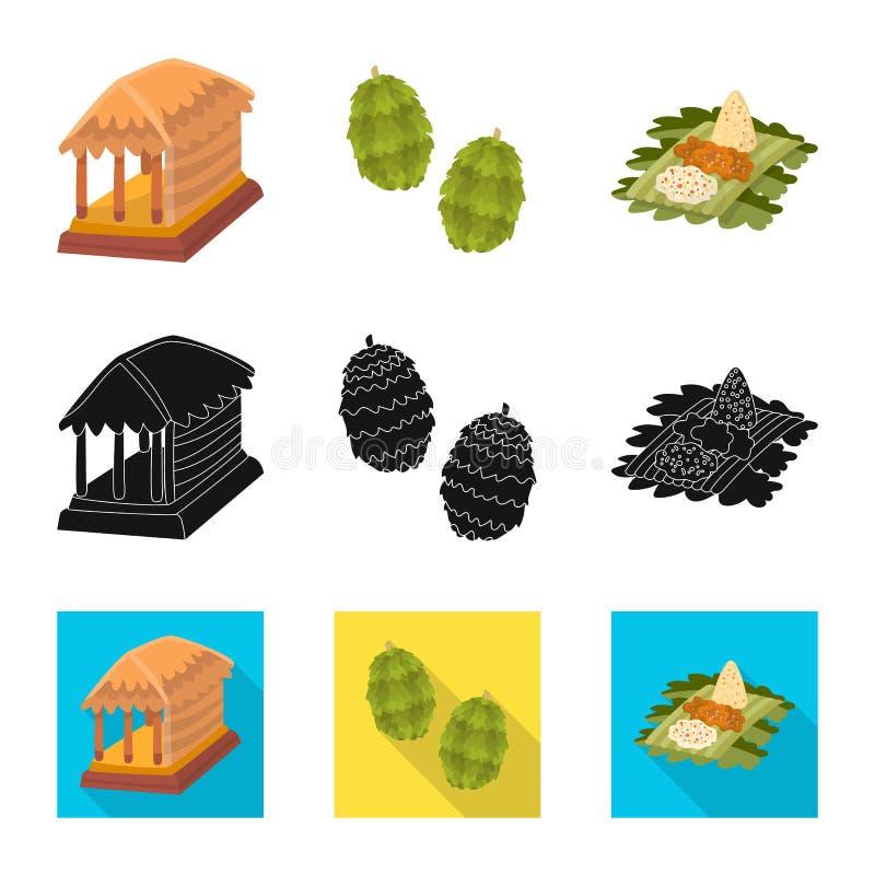 Ge?soleerd voorwerp van en reispictogram Reeks van en traditioneel voorraadsymbool voor Web stock illustratie