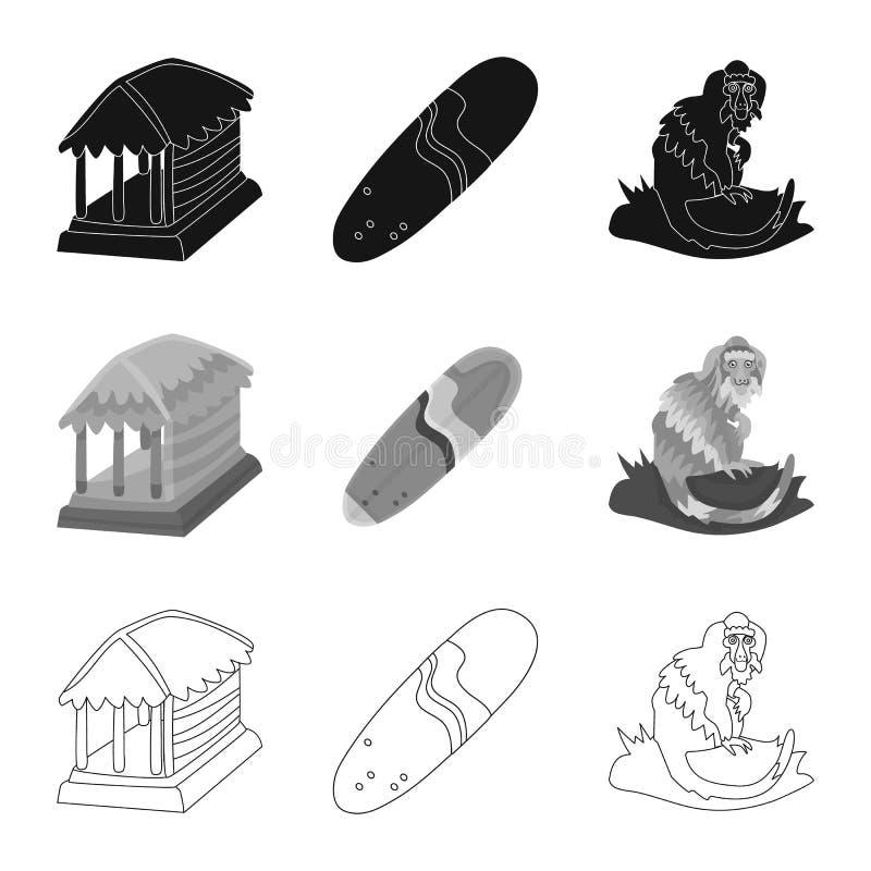 Ge?soleerd voorwerp van en reissymbool Reeks van en traditioneel vectorpictogram voor voorraad royalty-vrije illustratie