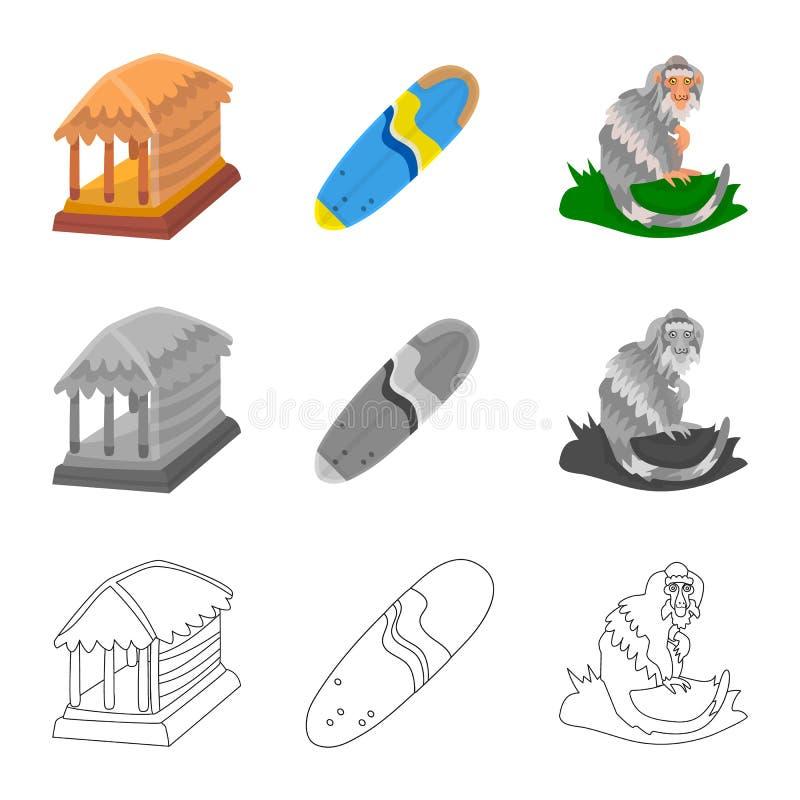 Ge?soleerd voorwerp van en reisteken Inzameling van en traditioneel voorraadsymbool voor Web vector illustratie