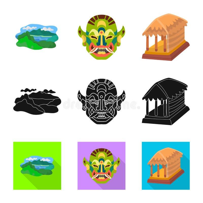 Ge?soleerd voorwerp van en reisteken Reeks van en traditioneel vectorpictogram voor voorraad stock illustratie