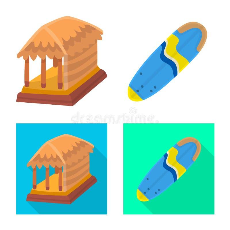 Ge?soleerd voorwerp van en reisteken Reeks van en traditioneel voorraadsymbool voor Web stock illustratie