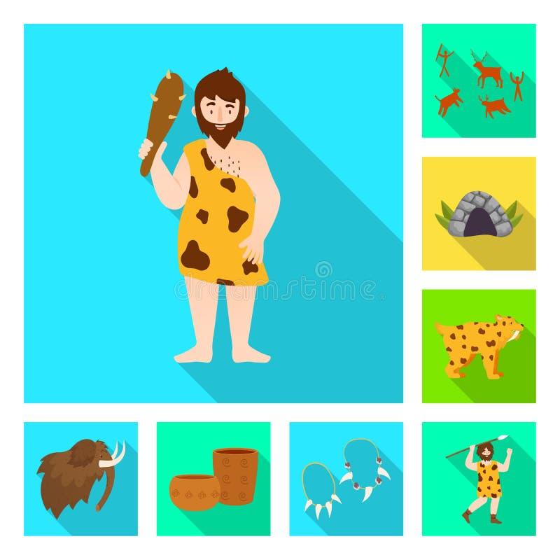 Ge?soleerd voorwerp van evolutie en neolithisch symbool Reeks van evolutie en ongerept vectorpictogram voor voorraad royalty-vrije illustratie