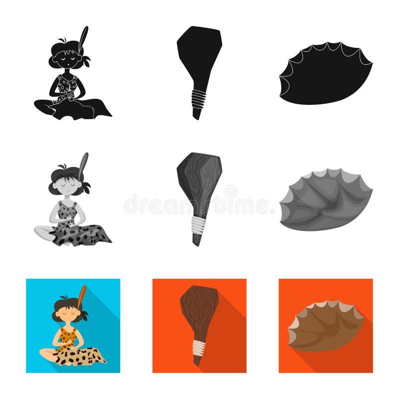 Ge?soleerd voorwerp van evolutie en voorgeschiedenisembleem Inzameling van evolutie en ontwikkelings vectorpictogram voor voorraa royalty-vrije illustratie