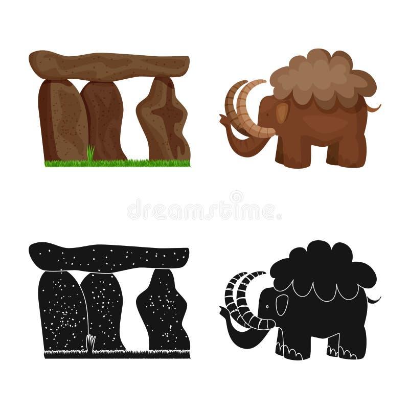 Ge?soleerd voorwerp van evolutie en voorgeschiedenispictogram Inzameling van evolutie en ontwikkelings vectorpictogram voor voorr vector illustratie