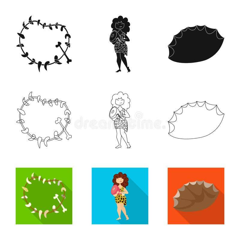 Ge?soleerd voorwerp van evolutie en voorgeschiedenispictogram Inzameling van evolutie en ontwikkelingsvoorraadsymbool voor Web royalty-vrije illustratie