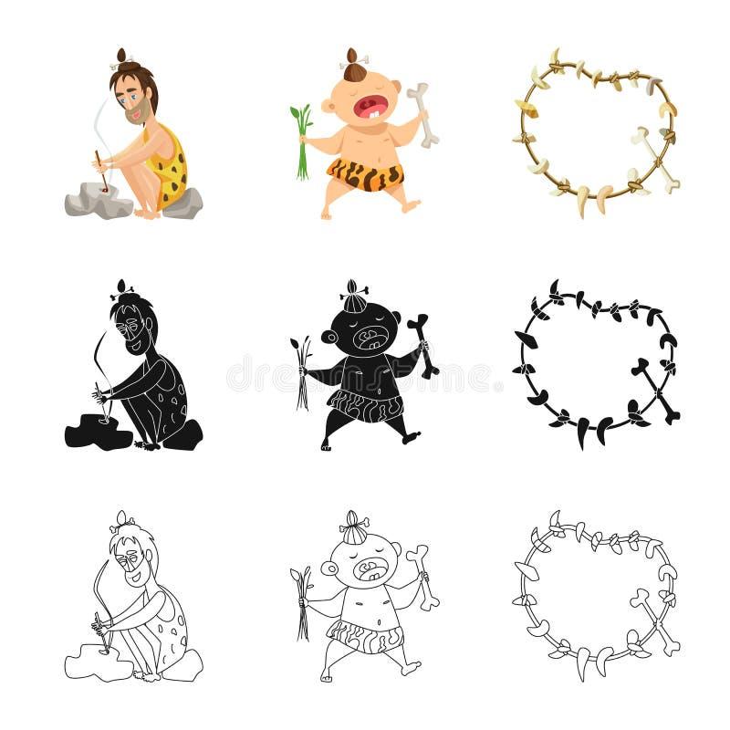 Ge?soleerd voorwerp van evolutie en voorgeschiedenissymbool Inzameling van evolutie en ontwikkelings vectorpictogram voor voorraa royalty-vrije illustratie