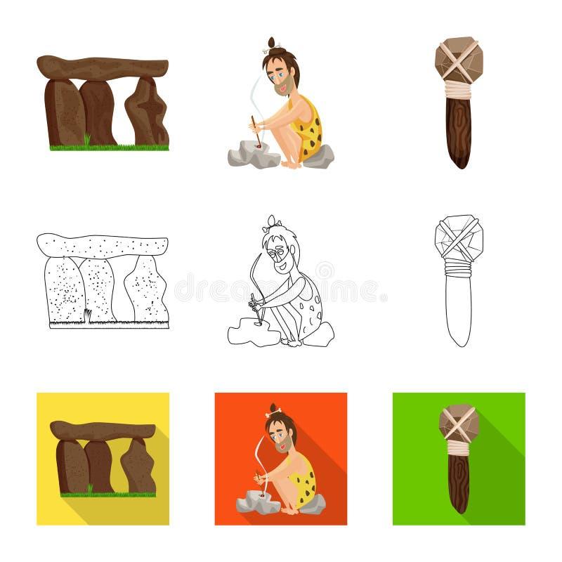 Ge?soleerd voorwerp van evolutie en voorgeschiedenissymbool Inzameling van evolutie en ontwikkelingsvoorraadsymbool voor Web royalty-vrije illustratie