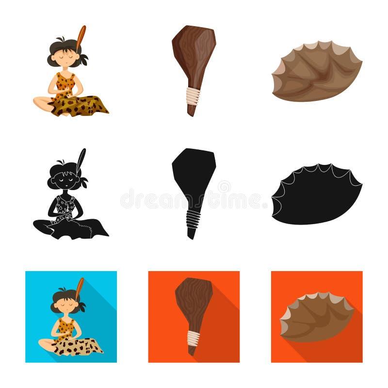 Ge?soleerd voorwerp van evolutie en voorgeschiedenisteken Reeks van evolutie en ontwikkelingsvoorraadsymbool voor Web royalty-vrije illustratie