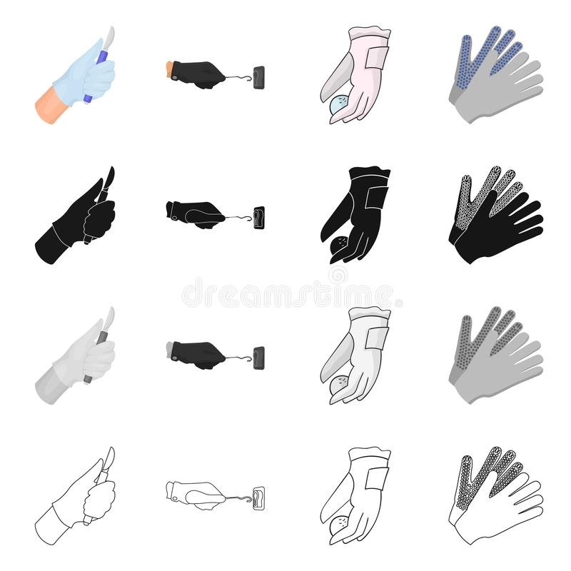 Ge?soleerd voorwerp van gebreid en bewaarderspictogram Reeks van gebreid en hand vectorpictogram voor voorraad vector illustratie
