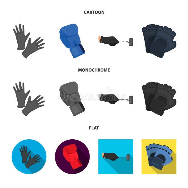 Ge?soleerd voorwerp van gebreid en bewaardersteken Inzameling van gebreid en hand vectorpictogram voor voorraad stock illustratie
