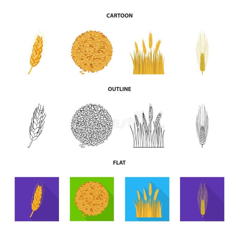 Ge?soleerd voorwerp van landbouw en de landbouwembleem Inzameling van landbouw en installatie vectorpictogram voor voorraad vector illustratie
