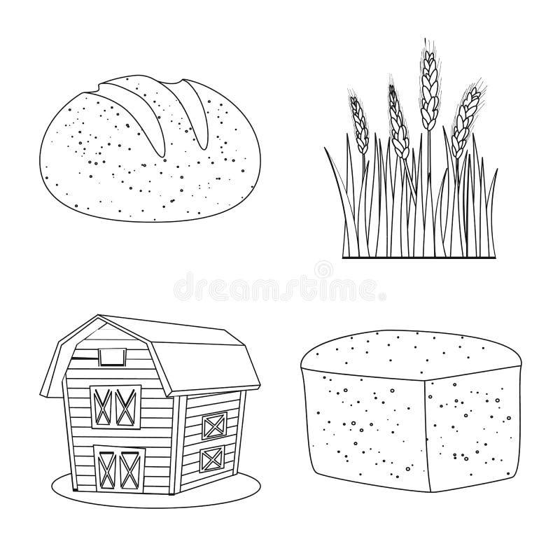 Ge?soleerd voorwerp van landbouw en de landbouwpictogram Reeks van landbouw en het symbool van de installatievoorraad voor Web vector illustratie