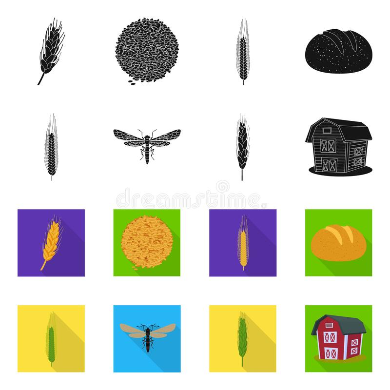 Ge?soleerd voorwerp van landbouw en de landbouwpictogram Reeks van landbouw en het symbool van de installatievoorraad voor Web stock illustratie