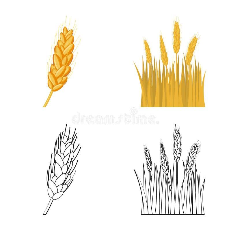 Ge?soleerd voorwerp van landbouw en de landbouwsymbool Reeks van landbouw en installatie vectorpictogram voor voorraad royalty-vrije illustratie