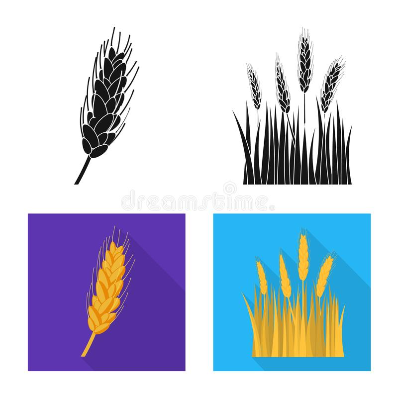 Ge?soleerd voorwerp van landbouw en de landbouwteken Inzameling van landbouw en het symbool van de installatievoorraad voor Web stock illustratie