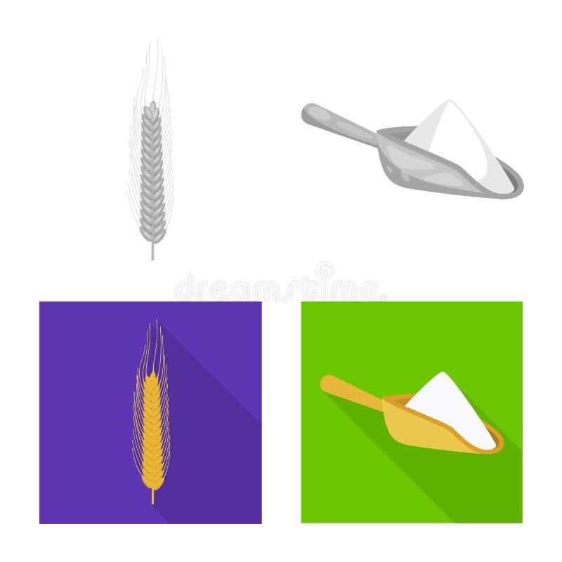 Ge?soleerd voorwerp van landbouw en de landbouwteken Inzameling van landbouw en installatie vectorpictogram voor voorraad vector illustratie