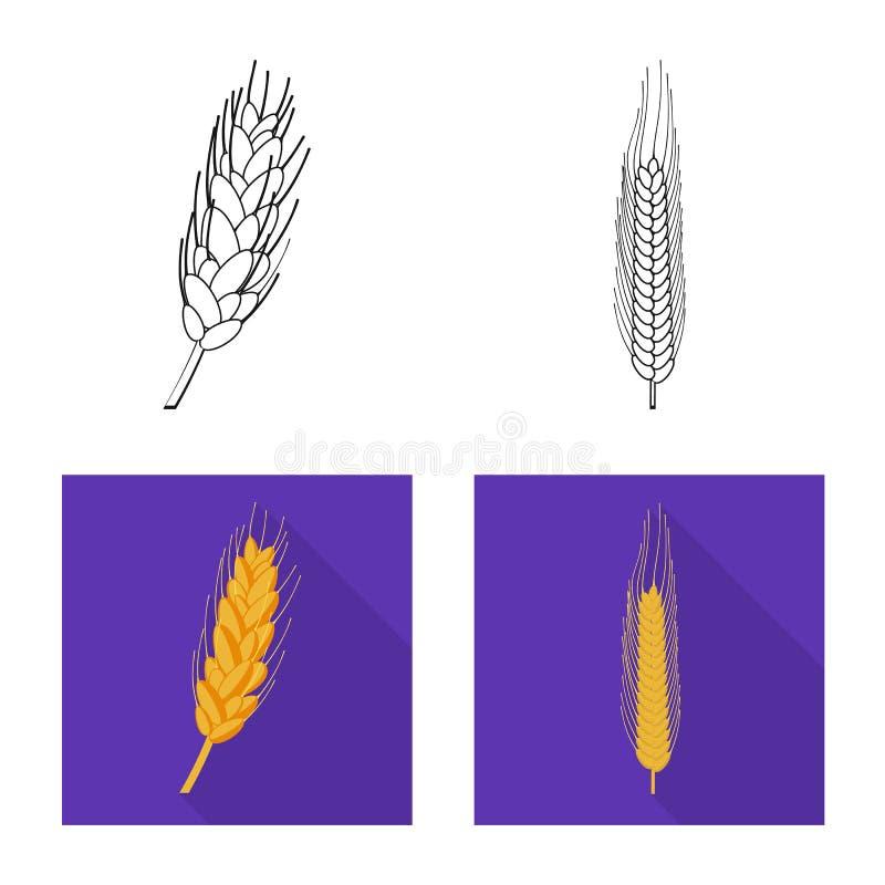 Ge?soleerd voorwerp van landbouw en de landbouwteken Reeks van landbouw en het symbool van de installatievoorraad voor Web stock illustratie