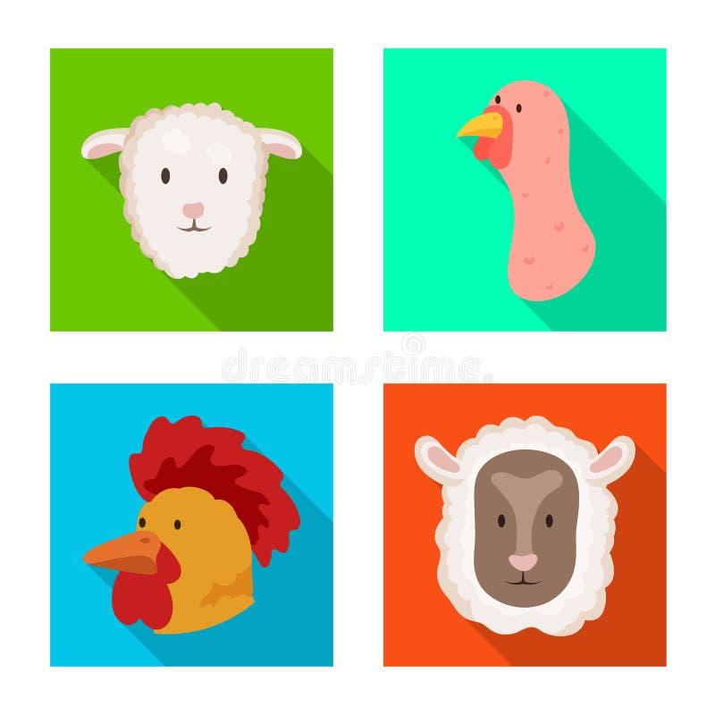 Ge?soleerd voorwerp van landbouw en het fokkenembleem Reeks van landbouw en organische voorraad vectorillustratie vector illustratie