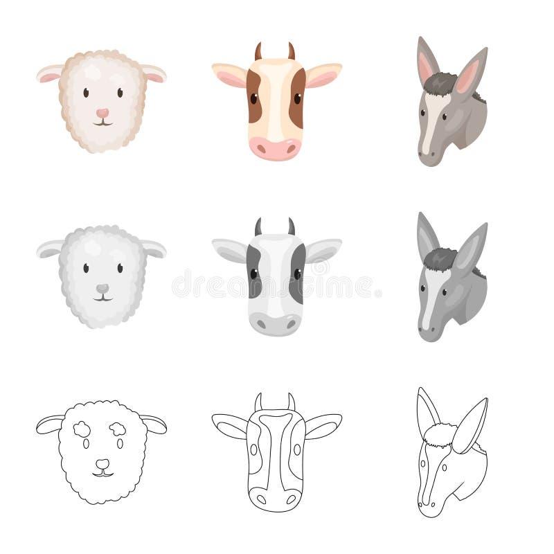 Ge?soleerd voorwerp van landbouw en het fokkenpictogram Inzameling van landbouw en organische voorraad vectorillustratie vector illustratie