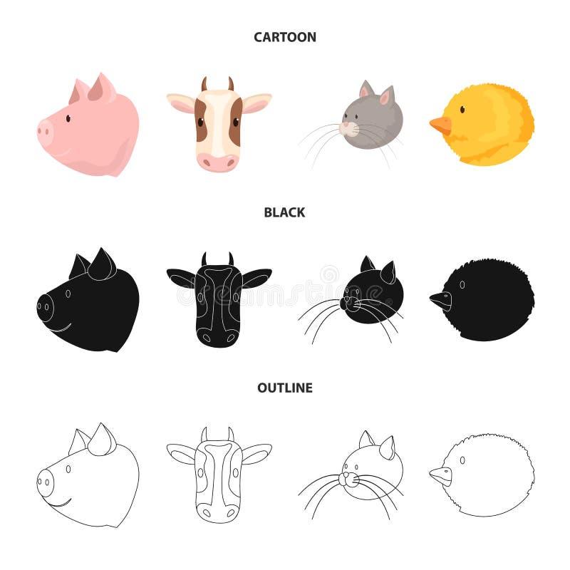 Ge?soleerd voorwerp van landbouw en het fokkensymbool Reeks van landbouw en organisch vectorpictogram voor voorraad vector illustratie