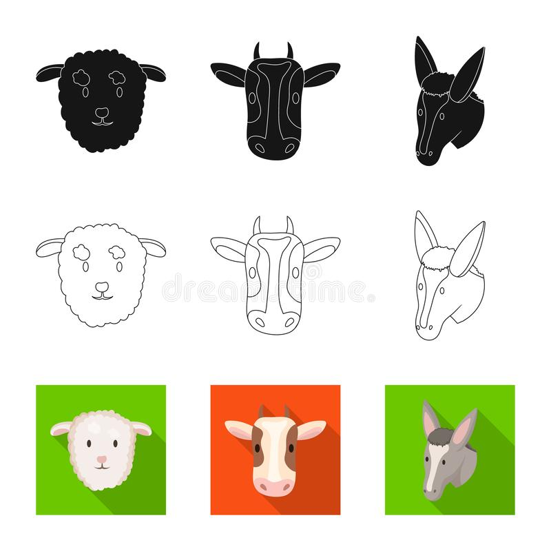 Ge?soleerd voorwerp van landbouw en het fokkensymbool Reeks van landbouw en organische voorraad vectorillustratie vector illustratie