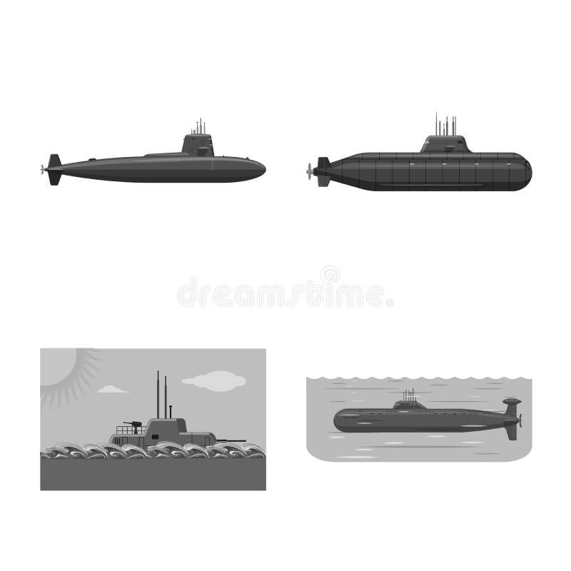 Ge?soleerd voorwerp van leger en diep pictogram Reeks van leger en kern vectorpictogram voor voorraad royalty-vrije illustratie
