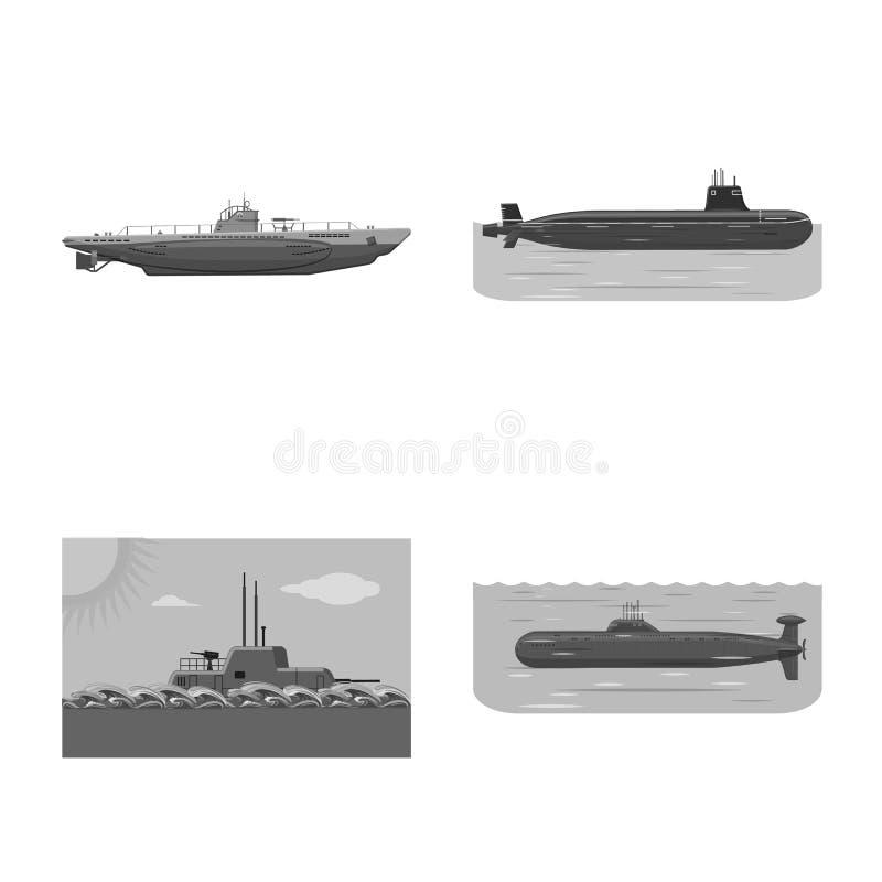 Ge?soleerd voorwerp van leger en diep teken Reeks van leger en kernvoorraad vectorillustratie vector illustratie