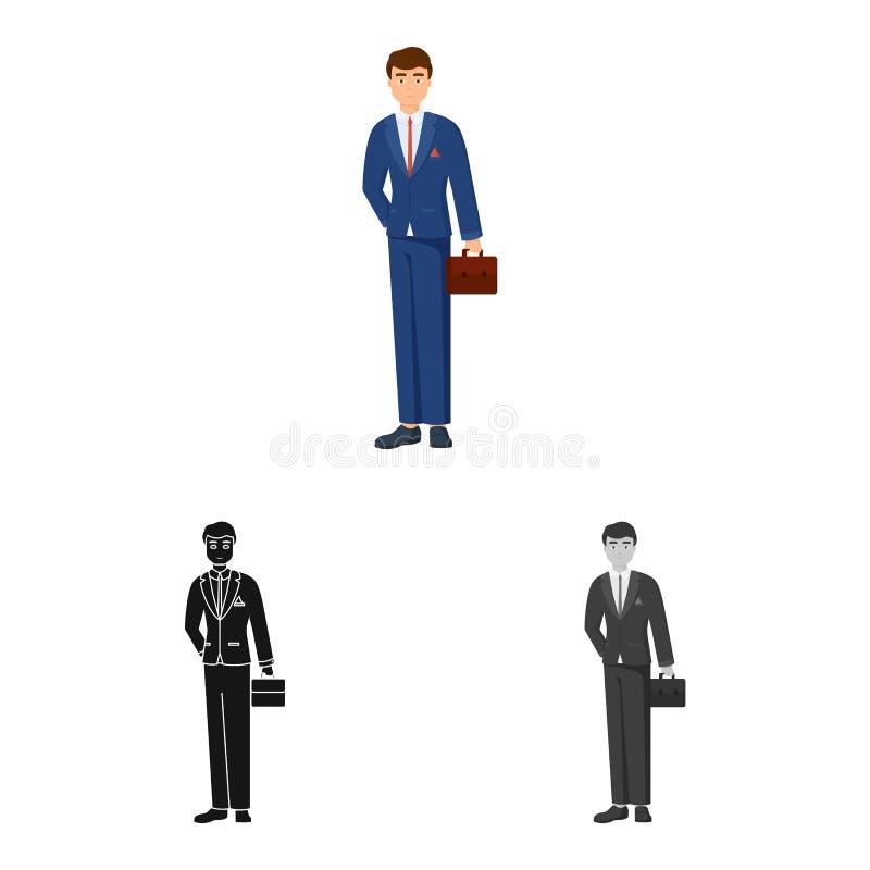 Ge?soleerd voorwerp van mensen en bedrijfspictogram Inzameling van de mens en businessperson vectorpictogram voor voorraad stock illustratie