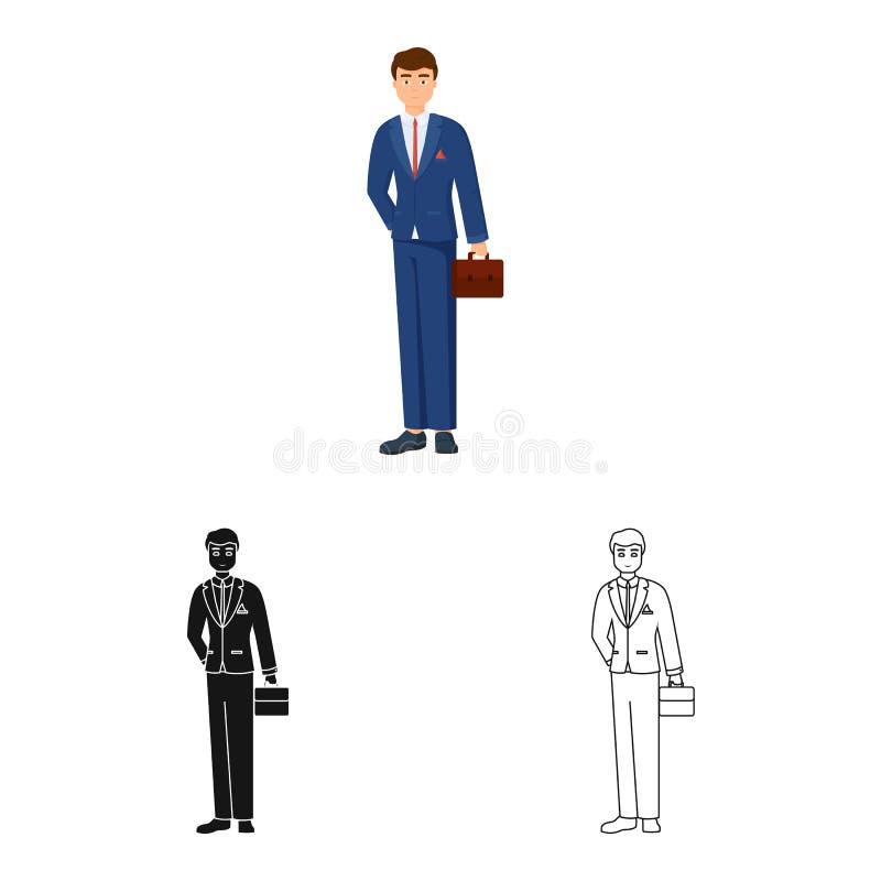 Ge?soleerd voorwerp van mensen en bedrijfssymbool Inzameling van mens en businessperson voorraad vectorillustratie stock illustratie