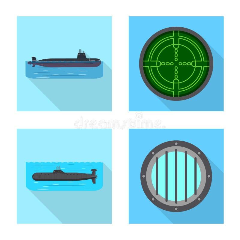 Ge?soleerd voorwerp van militair en kernpictogram Reeks van het symbool van de militaire en schipvoorraad voor Web royalty-vrije illustratie