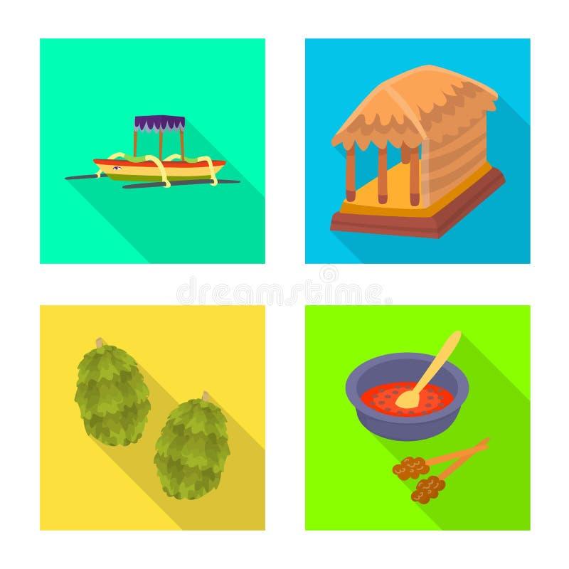 Ge?soleerd voorwerp van reis en toerismepictogram Reeks van reis en eiland vectorpictogram voor voorraad stock illustratie