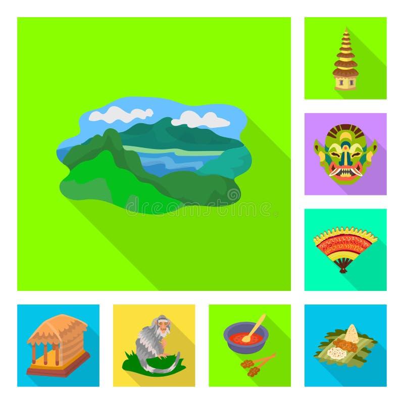 Ge?soleerd voorwerp van reis en toerismepictogram Reeks van reis en het symbool van de eilandvoorraad voor Web stock illustratie
